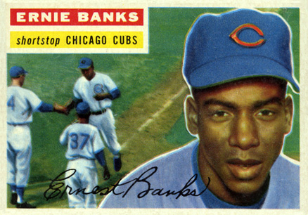 1956 Topps Ernie Banks #15w Baseball Card