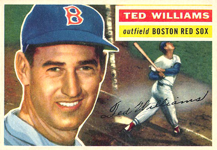 1956 Topps Ted Williams #5w Baseball Card
