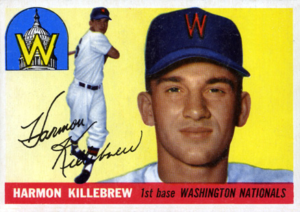 1955 Topps Harmon Killebrew #124 Baseball Card