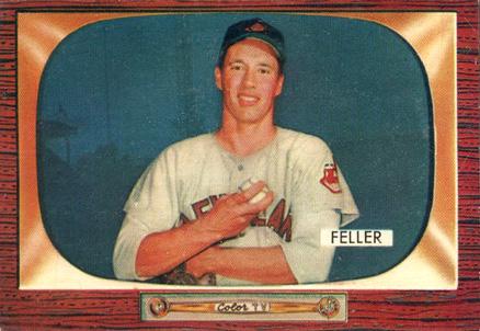 1955 Bowman Bob Feller 134 Baseball Vcp Price Guide