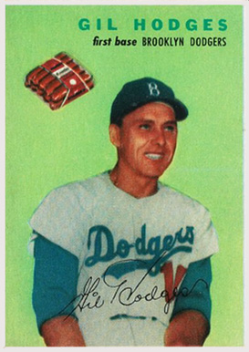 1954 Wilson Franks Gil Hodges #9 Baseball Card