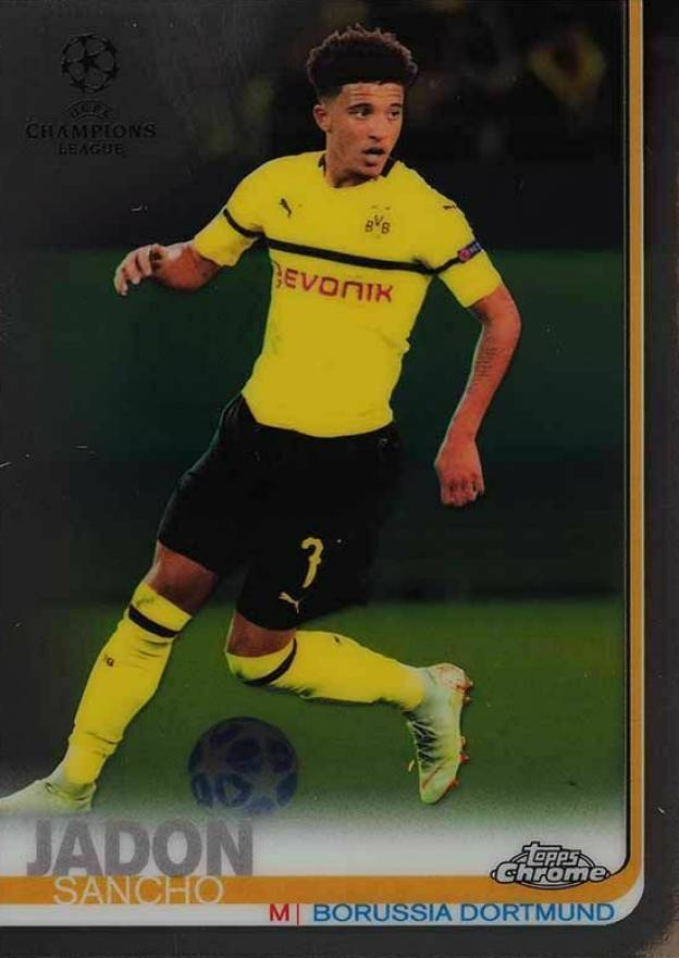 2018 Topps Chrome UEFA Champions League Jadon Sancho #86 Boxing & Other Card