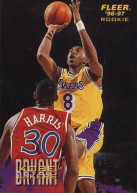 1996 Fleer Sprite Kobe Bryant #17 Basketball Card