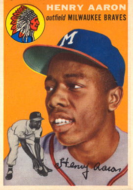 1954 Topps Hank Aaron #128 Baseball Card