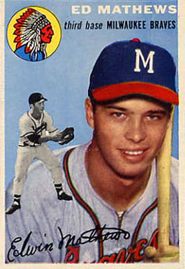 1954 Topps Eddie Mathews #30 Baseball Card