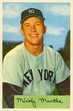 1954 Bowman Mickey Mantle #65 Baseball Card
