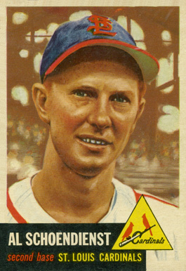 1953 Topps Red Schoendienst #78 Baseball Card
