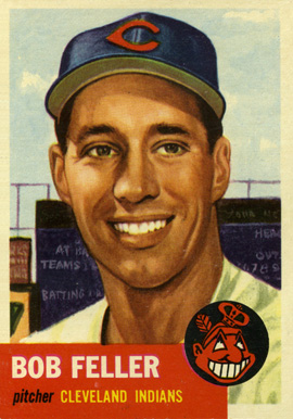 1953 Topps Bob Feller #54 Baseball Card