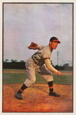 1953 Bowman Color Bob Feller #114 Baseball Card