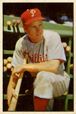 1953 Bowman Color Richie Ashburn #10 Baseball Card