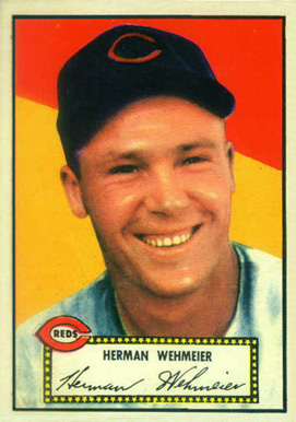 1952 Topps Herman Wehmeier #80 Baseball Card
