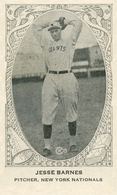 1922 American Caramel--Series of 240 Jesse Barnes #10 Baseball Card