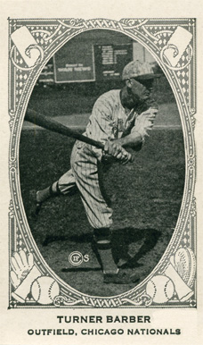 1922 American Caramel--Series of 240 Turner Barber #9 Baseball Card