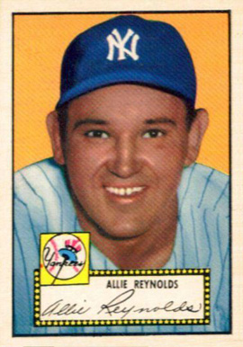 1952 Topps Allie Reynolds #67b Baseball Card