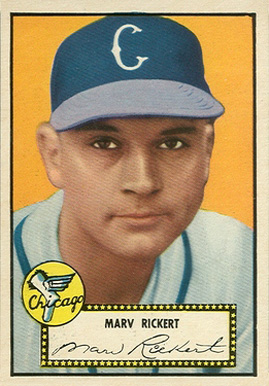 1952 Topps Marv Rickert #50 Baseball Card
