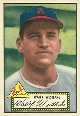 1952 Topps Wally Westlake #38b Baseball Card