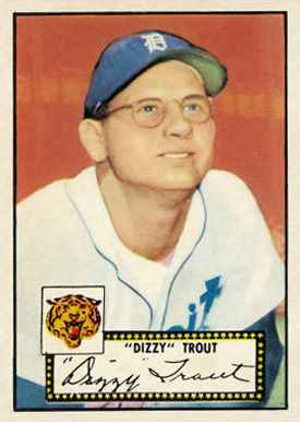 1952 Topps Dizzy Trout #39 Baseball Card