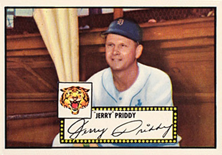1952 Topps Jerry Priddy #28 Baseball Card