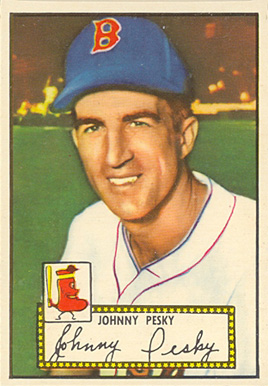 1952 Topps Johnny Pesky #15b Baseball Card