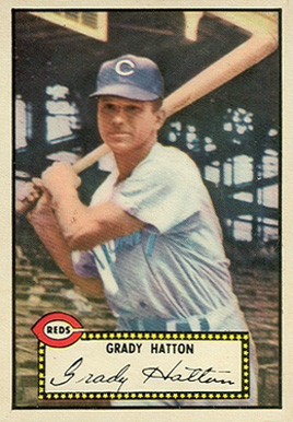 1952 Topps Grady Hatton #6 Baseball Card