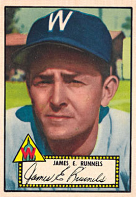 1952 Topps James L. Runnels #2 Baseball Card
