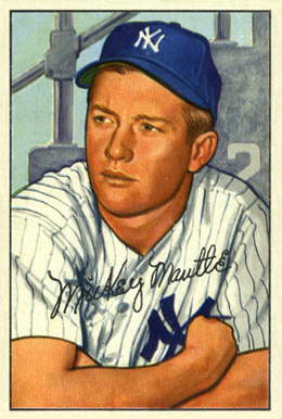 1952 Bowman Mickey Mantle #101 Baseball Card