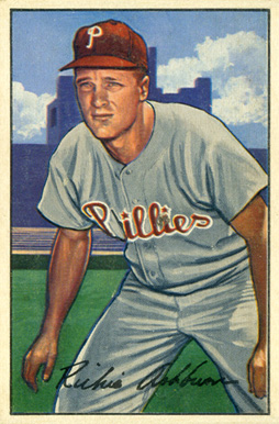 1952 Bowman Richie Ashburn #53 Baseball Card