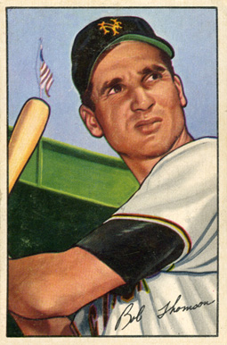 1952 Bowman Bobby Thomson #2 Baseball Card