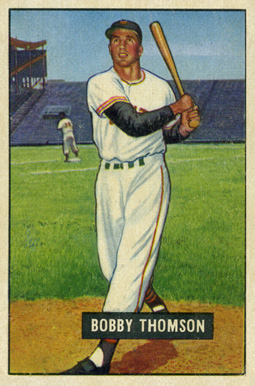 1951 Bowman Bobby Thomson 126 Baseball Card