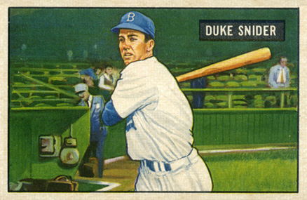 1951 Bowman Duke Snider #32 Baseball Card