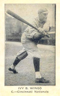 1922 American Caramel--Series of 120 Ivy B. Wingo #138 Baseball Card