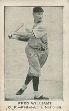 1922 American Caramel--Series of 120 Fred Williams #137 Baseball Card