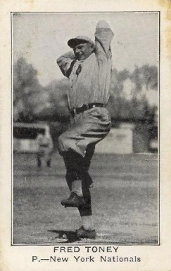 1922 American Caramel--Series of 120 Fred Toney #127 Baseball Card