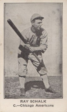 1922 American Caramel--Series of 120 Ray Schalk #106 Baseball Card