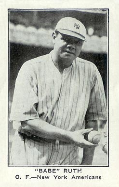 1922 American Caramel--Series of 120 Babe Ruth #103 Baseball Card
