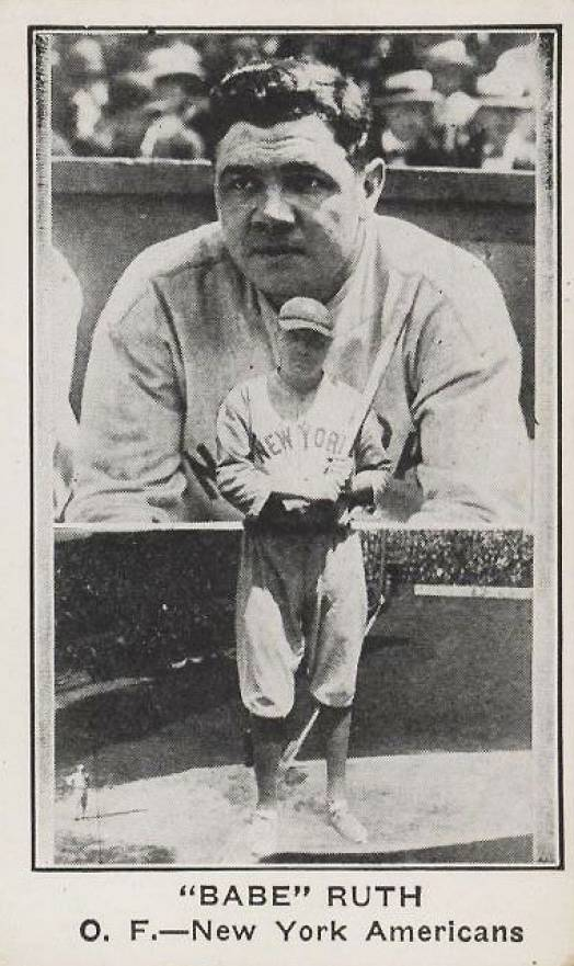 1922 American Caramel--Series of 120 Babe Ruth #100 Baseball Card