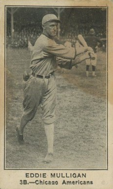 1922 American Caramel--Series of 120 Eddie Mulligan #77 Baseball Card