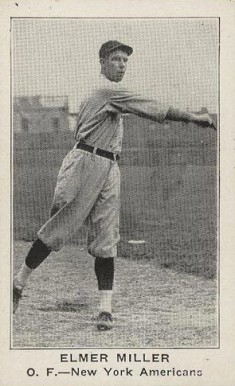 1922 American Caramel--Series of 120 Elmer Miller #74 Baseball Card