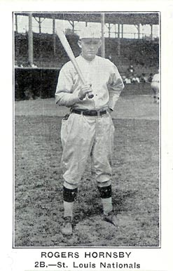 1922 American Caramel--Series of 120 Rogers Hornsby #52 Baseball Card