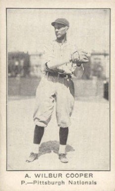 1922 American Caramel--Series of 120 A. Wilbur Cooper #16 Baseball Card