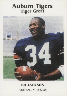 1987 Auburn Tigers Bo Jackson # Football Card