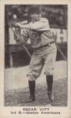 1921 American Caramel--Series of 80 Oscar Vitt #127 Baseball Card