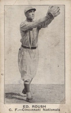 1921 American Caramel--Series of 80 Ed. Roush #92 Baseball Card