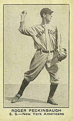 1921 American Caramel--Series of 80 Roger Peckinbaugh #82 Baseball Card