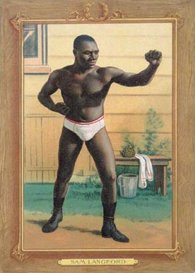 1910 Turkey Reds Sam Langford #65 Boxing & Other Card