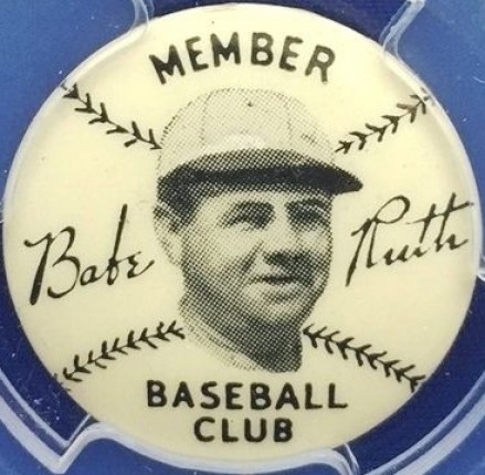 1934 Quaker Oats Pins  Babe Ruth # Baseball Card
