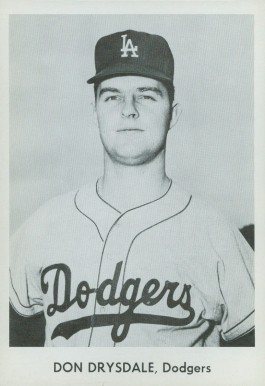 1958 Dodgers Team Issue Don Drysdale #6 Baseball Card