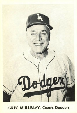 1958 Dodgers Team Issue Greg Mulleavy #15 Baseball Card