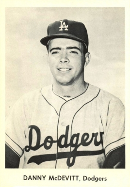 1958 Dodgers Team Issue Danny McDevitt #14 Baseball Card