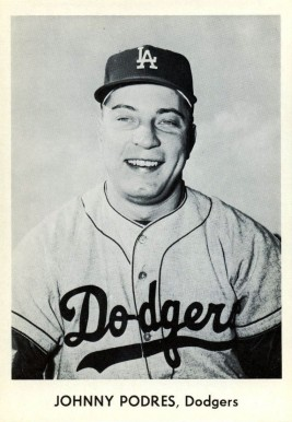 1958 Dodgers Team Issue Johnny Podres #19 Baseball Card
